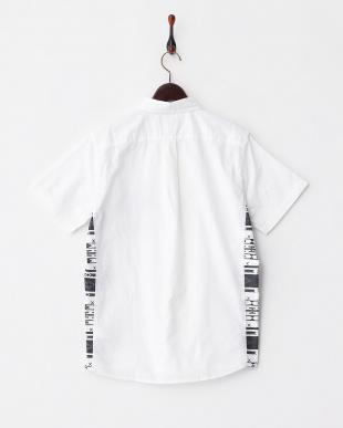 WHITE  T17.OX×ナバホプリントボタンダウンシャツ見る