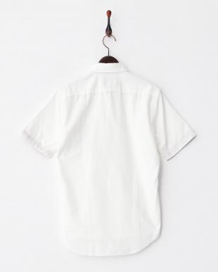 WHITE  MI.フラワーポケットシャツ見る