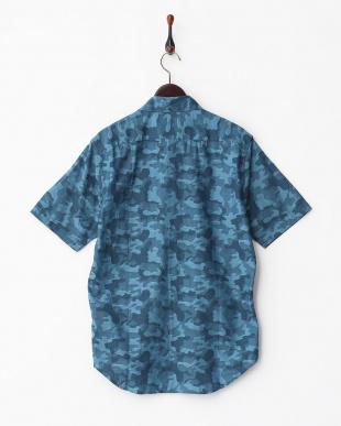 BLUE  MI.ジャカードカモフラ柄 シャツ見る