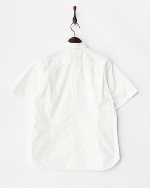 WHITE  W.ワッシャーサファリボタンダウンシャツ見る