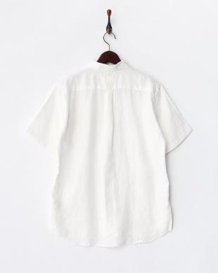 WHITE ベルギーリネン半袖BDシャツ見る