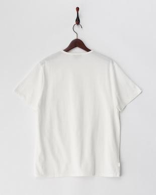ホワイト  胸ポケット付きTシャツ見る