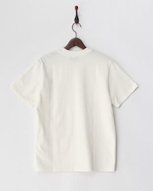 ホワイト  スケボープリントTシャツ見る