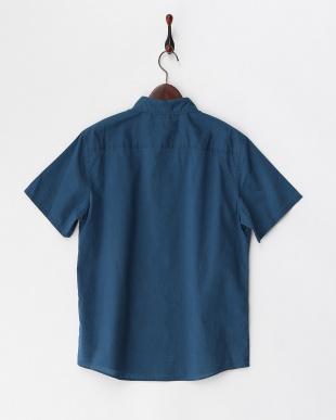ブルー ハーフスリーブシャツ見る