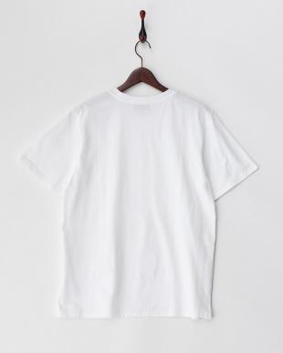 ホワイト  胸刺繍ポイントカットソー見る