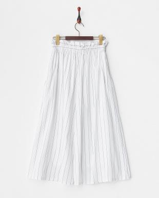 ホワイト  ウエストリボン スカーチョ見る