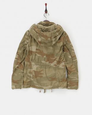 カモフラージュ  ツイルビッグフードジャケット|WOMEN見る
