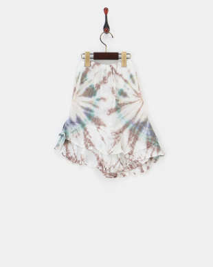 ターコイズ  タイダイラップ風スカート|KIDS見る