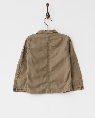 カーキ ヘリンボンミリタリー  M43シャツジャケット|KIDS見る