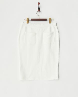 オフホワイト ジャージースカート見る