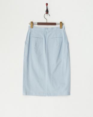サックス ダスティーワッシャータイトスカート見る