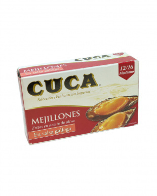 CUCA人気グルメ缶詰3点セット(ムール貝、イカスミ、オイルサーディン)見る