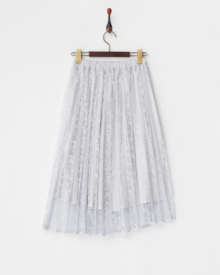 GRAY  Haレースプリーツスカート見る