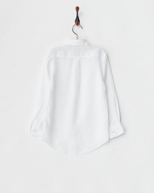 ホワイト  リネンシャツ(無地)見る