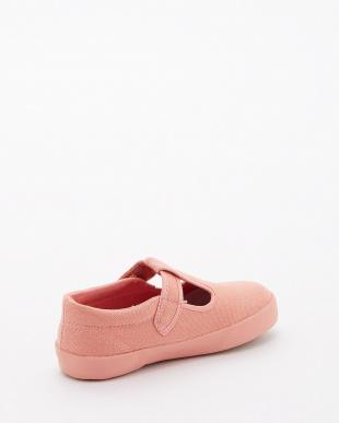 ピンク キャンバス Tストラップシューズ|KIDS見る