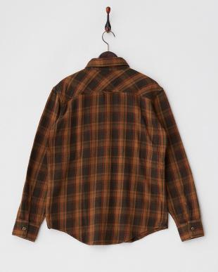 ブラウン フランネル チェックシャツ見る