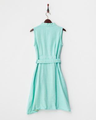 ブルー  マシュガーゼシャンブレー ラップドレス|WOMEN見る