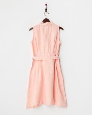 ピンク  マシュガーゼシャンブレー ラップドレス|WOMEN見る