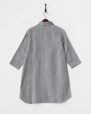 ダークグレイ  マシュガーセシャンブレー ロングシャツ|WOMEN見る