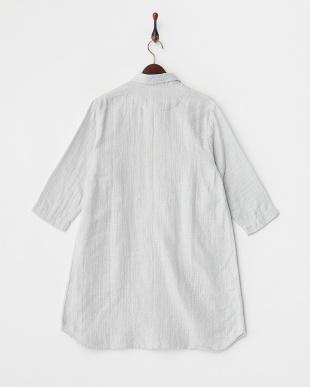 ライトグレイ  マシュガーセシャンブレー ロングシャツ|WOMEN見る