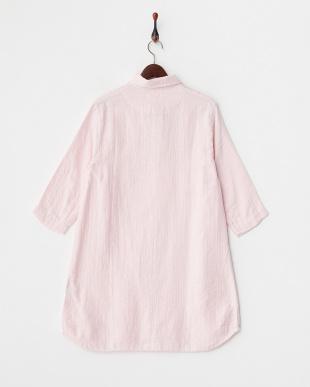 ライトピンク  マシュガーセシャンブレー ロングシャツ|WOMEN見る