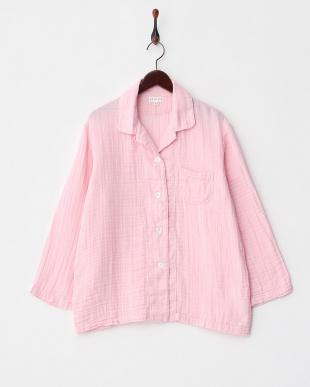 ピンク  クレープガーゼ レディースパジャマ│WOMEN見る