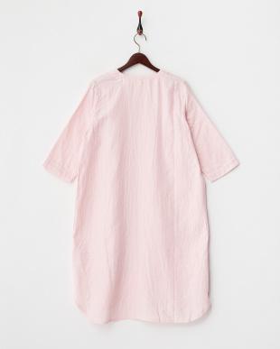 ピンク  マシュマロガーゼ 前あきワンピース|WOMEN見る