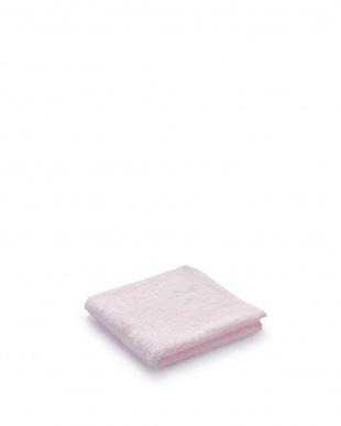 ピンク/ブルー/ホワイト  ふんわーりカラー ゲストタオル 3色セット見る