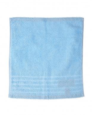ブルー  速乾・抗菌防臭 部屋干しカラーゲストタオル 2枚セット見る