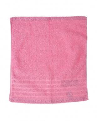 ピンク  速乾・抗菌防臭 部屋干しカラーゲストタオル 2枚セット見る