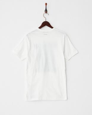 ホワイト  ROCK ONプリント レギュラーフィットTシャツ見る