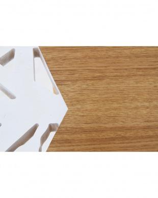 ホワイト×ナチュラル サイドテーブル バード見る