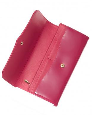 ピンク  かぶせ長財布見る