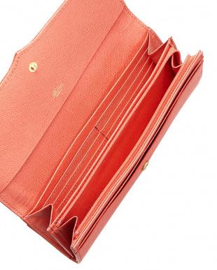 ピンク  ボンボンII かぶせ長財布見る