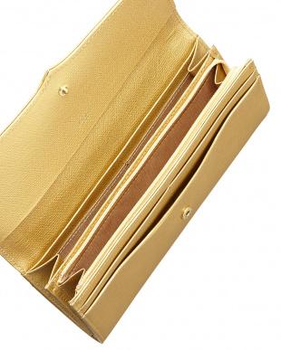 ゴールド  ボンボンII かぶせ長財布見る