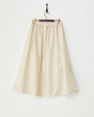 ベージュ ドット  柄はっ水レインスカート|WOMEN見る
