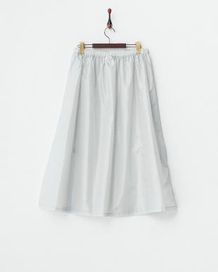 グレー ドット  柄はっ水レインスカート|WOMEN見る