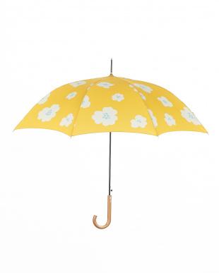 イエロー  雨晴兼用 長傘ビッグフラワー|WOMEN見る