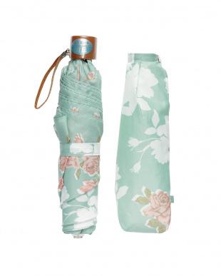 グリーン  折りたたみ ミニ傘フラワー|WOMEN見る