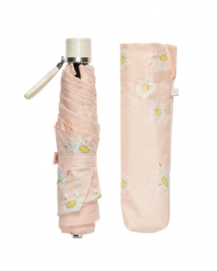 ピンク  折りたたみ 雨晴兼用ミニ傘マーガレット|WOMEN見る