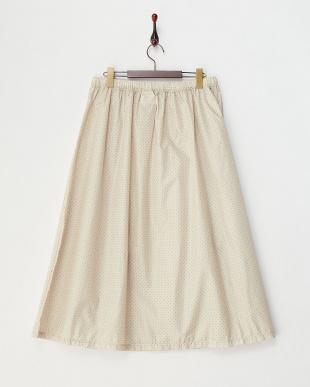 オフホワイト ドット柄レインスカート見る