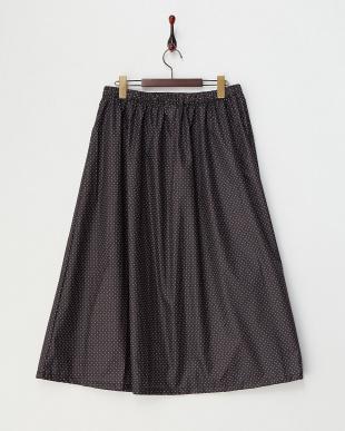 ブラック  ドット柄レインスカート見る