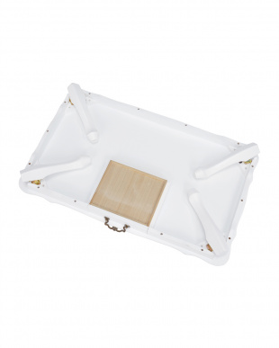 折りたたみ式 猫脚テーブル 100×60×33.5cm見る