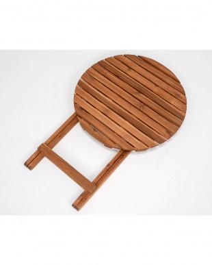 折りたたみ式 アカシアテーブル 60×60×71.5cm見る