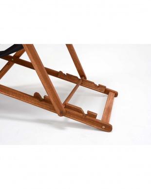 アイボリー  折りたたみ式 リラックスチェア 61.5×101-108×74-98cm見る