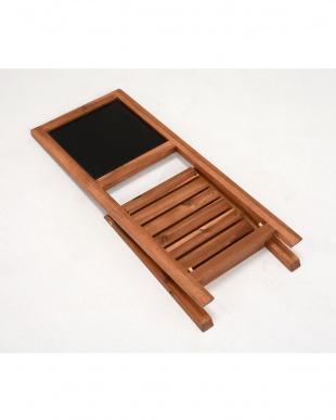 折りたたみ式 黒板スタンド 30×35.5×68cm見る