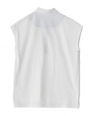 オフホワイト系 吸水速乾 鹿の子デザインポロシャツ見る