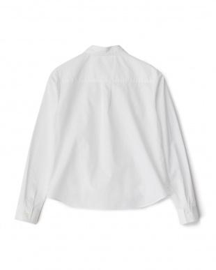 ホワイト フロントデザイン コットンシャツ見る
