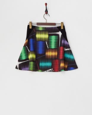 マルチ サイドリブ切り替え 台形スカート見る