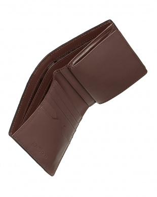 BURGUNDY  カイマンクロコダイル 折財布見る